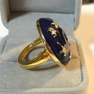 Stunning Kenneth Lane Blue Enamel Star Ring